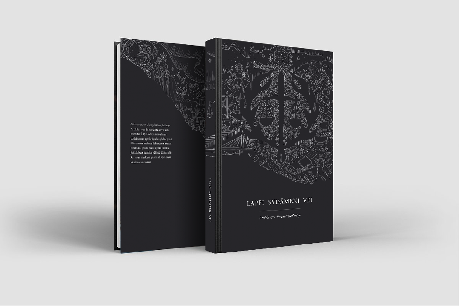 Book cover illustration mockup